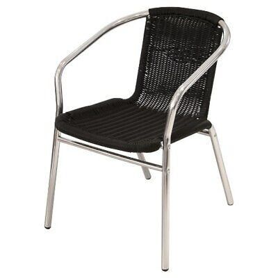 YE-35 Black Rattan Garden Chairs, Patio Chairs ideal for gardens & business