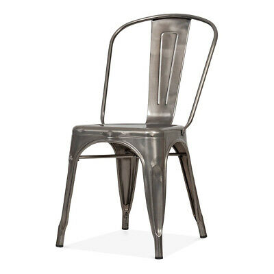Silver Metal Tolix Chairs, Industrial Chairs, Restaurant Chairs, Pub Chairs