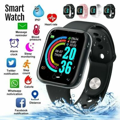 2020 Waterproof Smart Watch Heart Rate Tracker Fitness Wristband for IOS Android