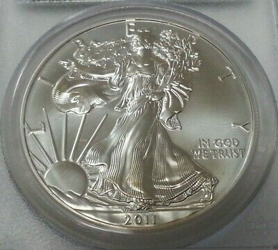 2011-(S) Silver American Eagle ~Pcgs Ms-70 ~First Strike ~Flag Label ~.999 Fine!