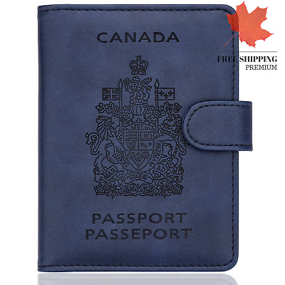 WALNEW RFID Blocking Passport Holder Travel Wallet Cover Case