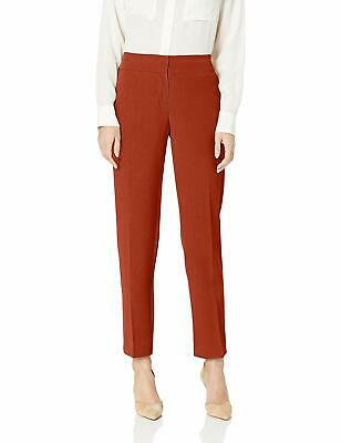 Kasper Women's Orange Size 16 Crepe Flat Front Dress Pants Stretch $79 #575