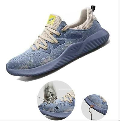 UK Lightweight Safety Shoes for Men Women Steel Toe Trainers Work Sports Shoes