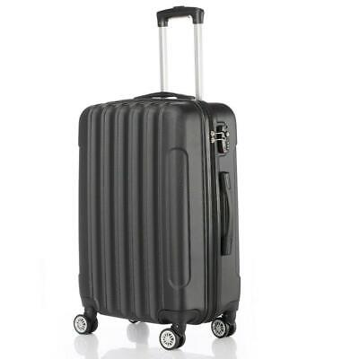 Lot 3 Luggage Travel Set Bag ABS Trolley Suitcase w/TSA Lock 4 Wheels Black