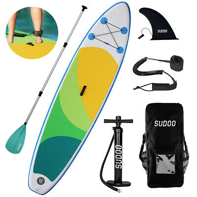"Inflatable SUP Paddle Board 10ft Stand Up Paddleboard 6"" Thick surfing board bh"
