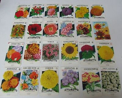 Lone Star EMPTY TEXAS Lot of 15 Old Vintage 1940/'s FLOWER SEED PACKETS