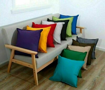 Plain Square Waterproof Garden Furniture Cushion Covers Indoor Outdoor 2 Sizes
