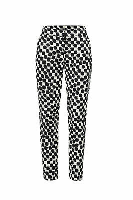 Trina Turk Women's Pants Black Size 2X25 Geometric Printed Stretch $276- #005
