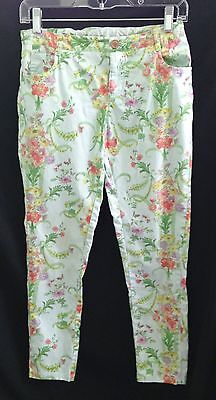 Baker By Ted Baker Floral Green, Coral, Purple Orange Pants - Size Girl's 14