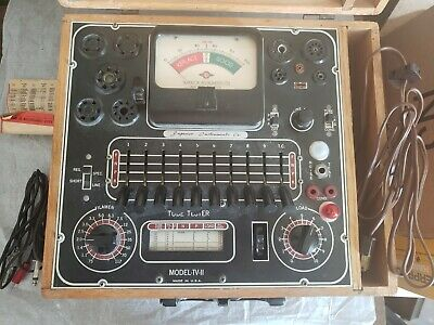 Vintage Working Superior Instruments Tube Tester TV-11 (With literature)