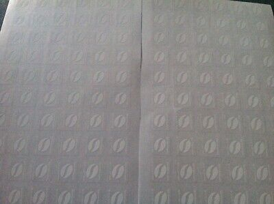 Macdonalds 120 Loyalty White Coffee Bean UV Stickers (24 cups)