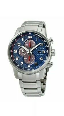 Citizen CA0680-57L Men's Primo Chronograph Blue Eco-Drive Watch