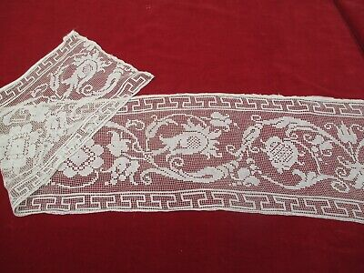 Antique Victorian Figural Lace runner