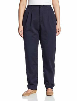 Lee Womens Blue Size 24WP Plus Tapered Relaxed Fit Chinos Stretch Pants $52 #732