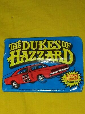 Vintage Wax Pack Trading Cards 1981 Dukes of Hazzard
