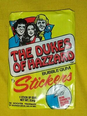Vintage Wax Pack Trading Cards 1981 Dukes of Hazard