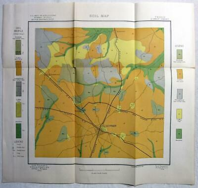 1903 TEXAS Map – LUFKIN - US Dept. of Agriculture Soil Map - Railroads