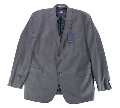 Daniel Hechter Mens Blazer Charcoal Gray Size 40 Short Two Button Wool $275 #485