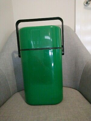DECOR Wine Bottle Chiller GREEN Vintage Cooler Carry Case Portable Alcohol Esky