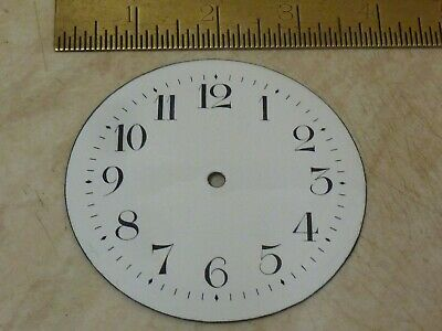 "Good Old French Clock Enamel 3 7/16"" Dial (B)"