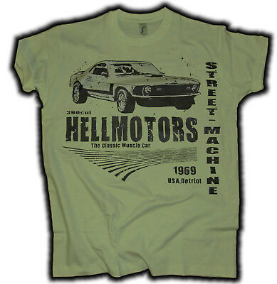 2 Coupe 1965 V8 Ford T-Shirt gold Print sehr edel Oldschool Mustang 2
