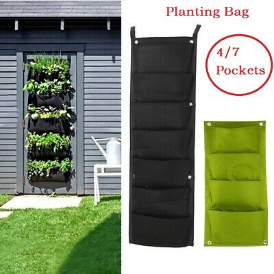 Pocket Planting Bag Hanging Wall Vertical Planter Hanging Flower Herb Garden