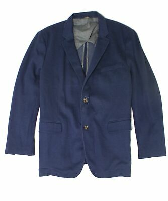 Tasso Elba Mens Navy Blue Size XL Emilio Two Button Blazer Jacket $119 #029