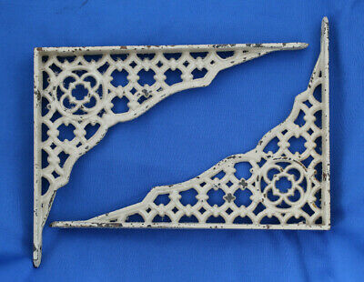 Antique Cast Iron Victorian Era Shelf Brackets Decorative Fancy Open work design