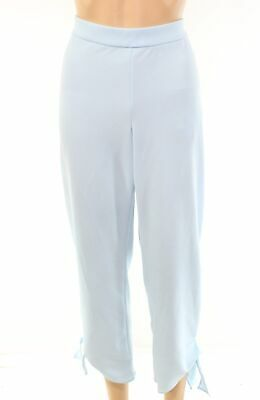 Alfani Women's Pants Blue Size 10 Stretch Tie-Cuff Cropped Pull-On $69 #097