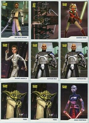 STAR WARS: THE CLONE WARS 2008 Base Card Lot - EXTRAS!!! 69 Cards Topps