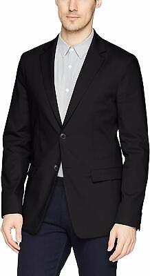 Theory Mens Blazer Black Size 38 Two-Button Notched Collar Compact $495 #451