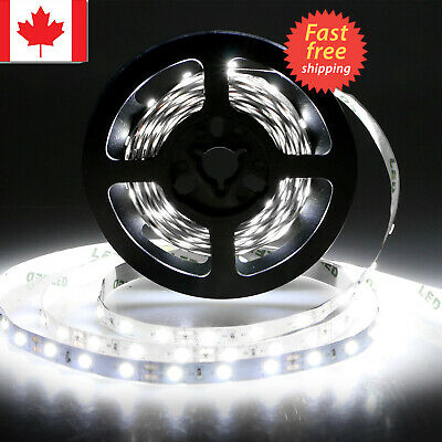 5m 12V Volt Bright White Led Light Strip waterproof 3528 300 LED For Car Vehicle