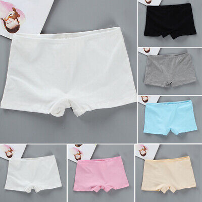 Child Girls Casual Elastic Pants Solid Stretch Cottons Safety Thin Soft Shorts