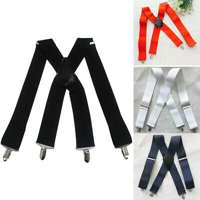 "Warrior Mens 1//2/"" Wide Adjustable Braces Suspenders Elastic in All Colours BNIB"