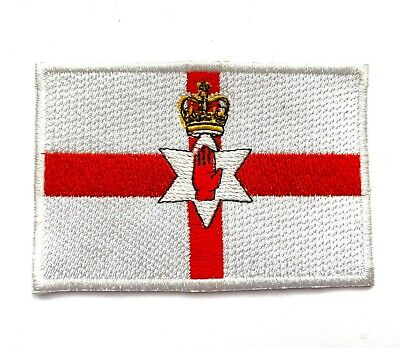 Patch printed embroidered travel souvenir biker backpack flag northern ireland