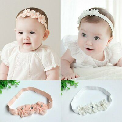 Newborn Baby Girl Cute Lace Bow Tie Floral Hair Band  Party Wedding Headband