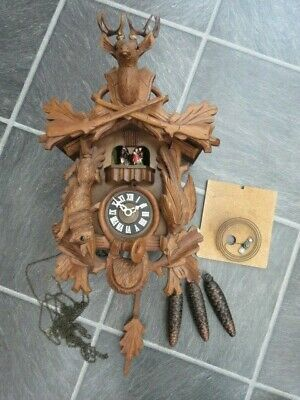 Vintage Regula Black Forest Musical Cuckoo Clock For Spares Or Repair