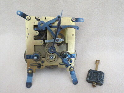 Vintage Striking German Clock Movement For Spares Or Repair