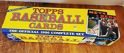 1986 Topps Official Complete Set Baseball Cards 792 Count New Open Box Very Good