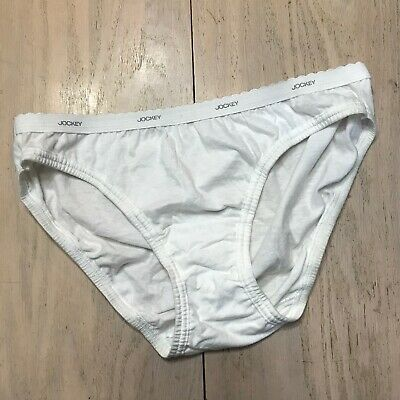 VTG Jockey For Her Combed Cotton Bikini Panty White Hi Cut Scalloped Waist 7