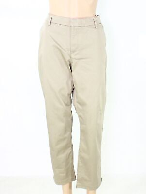Lee Women's Pants Beige Size 16P Petite Midrise Tapered Ankle Stretch $50 #432