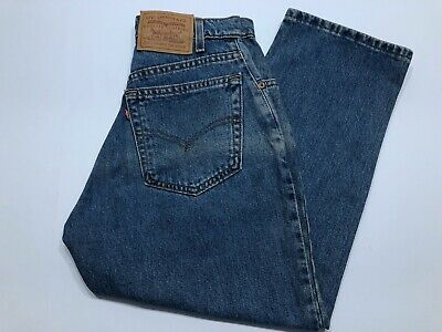 Women's Vtg Levis 501 Blue Denim Jeans Red Tab Made In USA High Rise Size 27-24