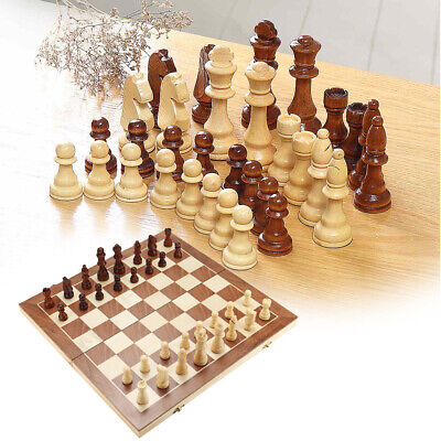 3in1 Magnetic Chessboard Chess Wooden Set Folding Pieces Wood Board Travel Game