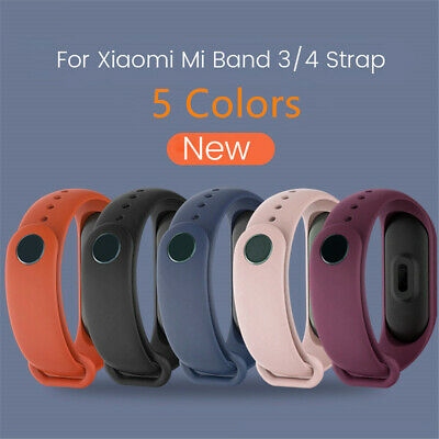 Smart-Wrist Rubber Bracelet Metal Buckle Watch Band Strap For Xiaomi Mi Band 3 4