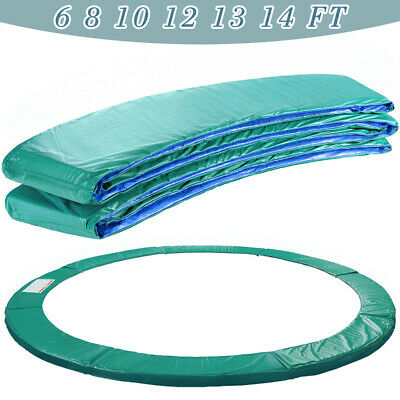 Trampoline Replacement 6 8 10 12 13 14FT Safety Spring Cover Padding Green Pad