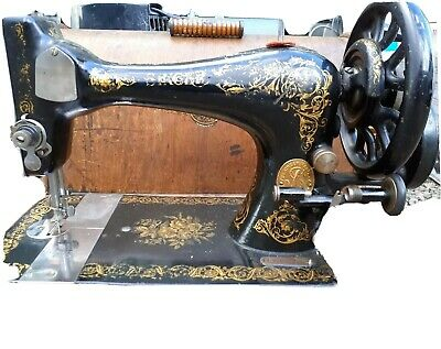 Vintage Singer 28k Sewing Machine With Old Wooden Box Accessories 1890s 1900s