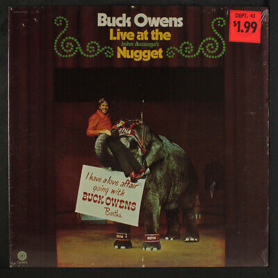 BUCK OWENS: Live At The Nugget LP Sealed (punch hole) Country