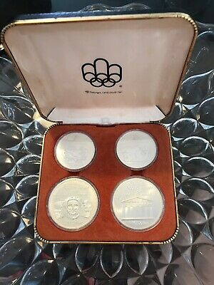 1976 SILVER COIN Olympic Montreal BOXED SET