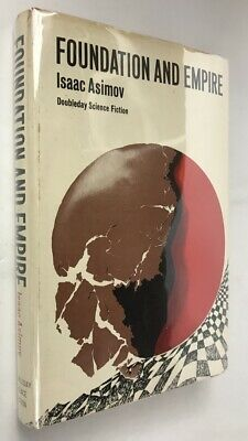 Isaac Asimov 'FOUNDATION AND EMPIRE' 1952, ca 1980 prtg, hardcover w/dj bce