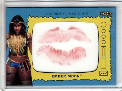 2017 Topps WWE Heritage EMBER MOON Authentic KISS CARD 96/99 Wrestling RARE SSP